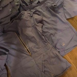 Jaanuu scrubs, 4 tops and 3 pants